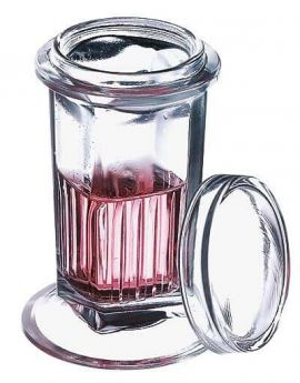 Glass Coplin Jar with Glass Lid