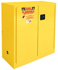 Flammable Storage Cabinet, 30-Gallon