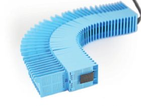 Threaded Microbiopsy Cassettes for automatic cassette printers (attached lid, front tab)